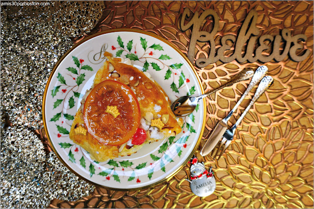 Porción de Roscón de Reyes Relleno de Nata Montada