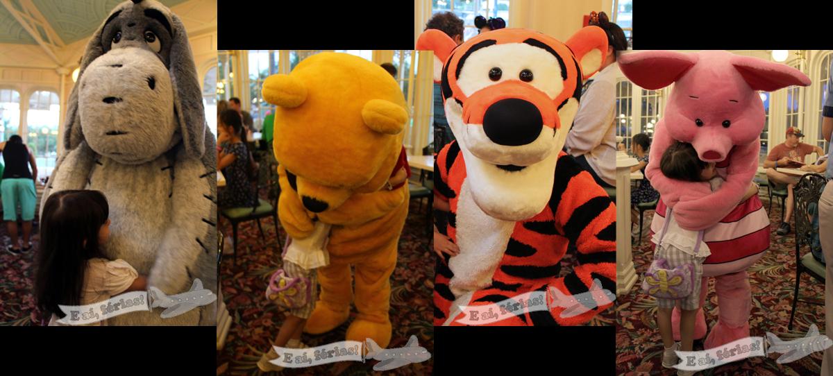 Bizonho, Pooh, Tigrão e Leitão!