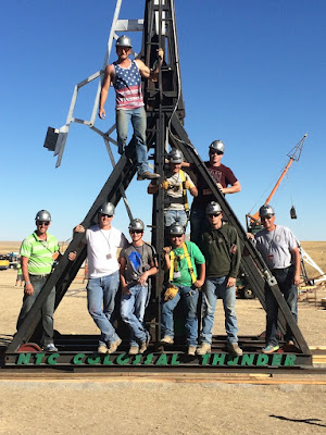 Colossal Thunder Trebuchet team at 2015 Colorado Punkin Chunkin