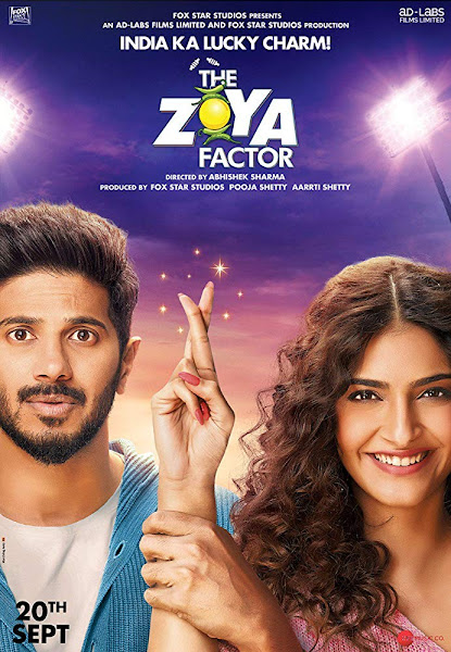 Poster of The Zoya Factor (2019) Full Movie [Hindi-DD5.1] 1080p HDRip ESubs Download