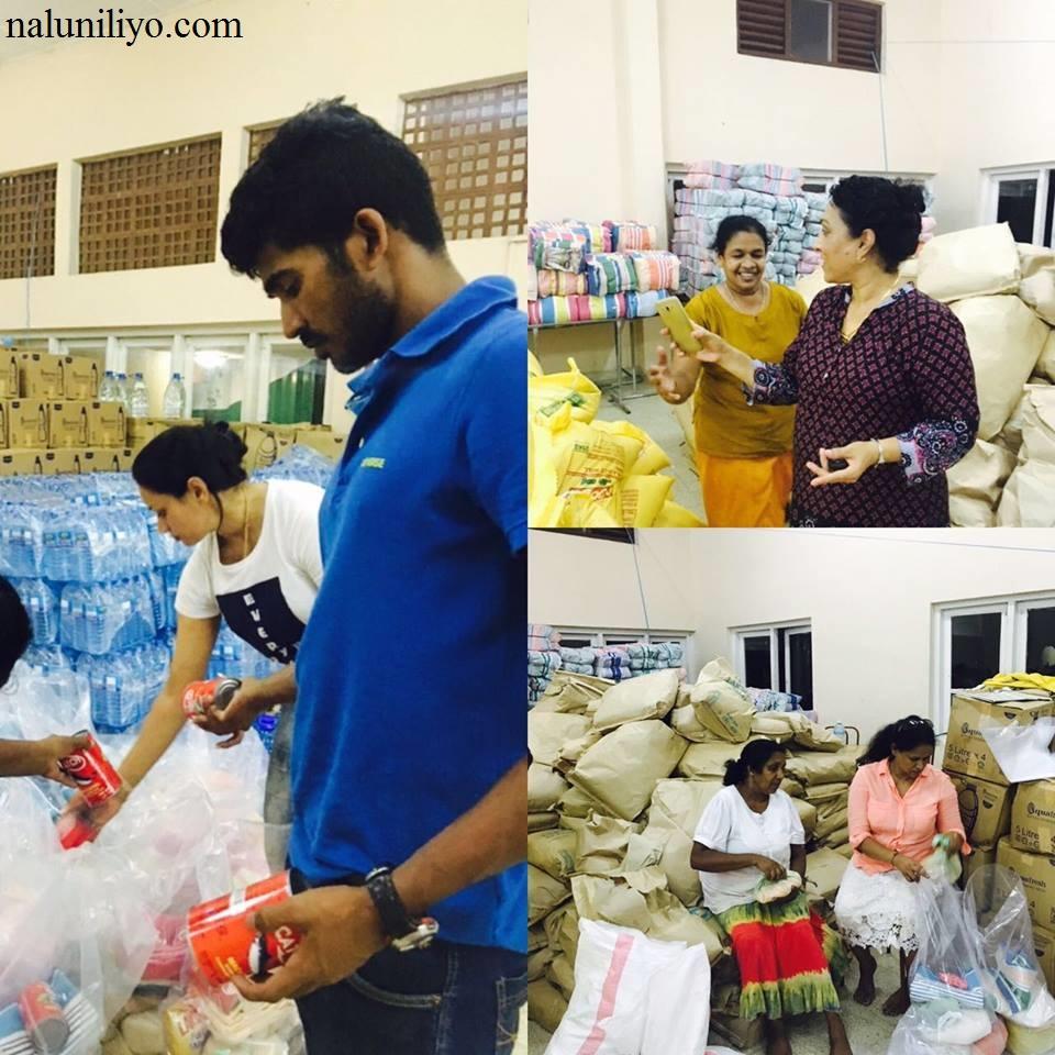 Janaki Wijerathne donating to food