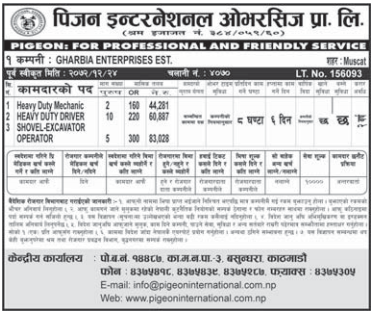 Jobs For Nepali In Qatar Salary -Rs.83,028/