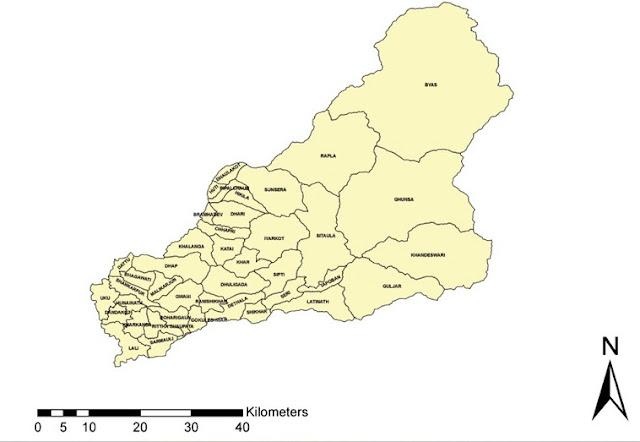 Darchula district map