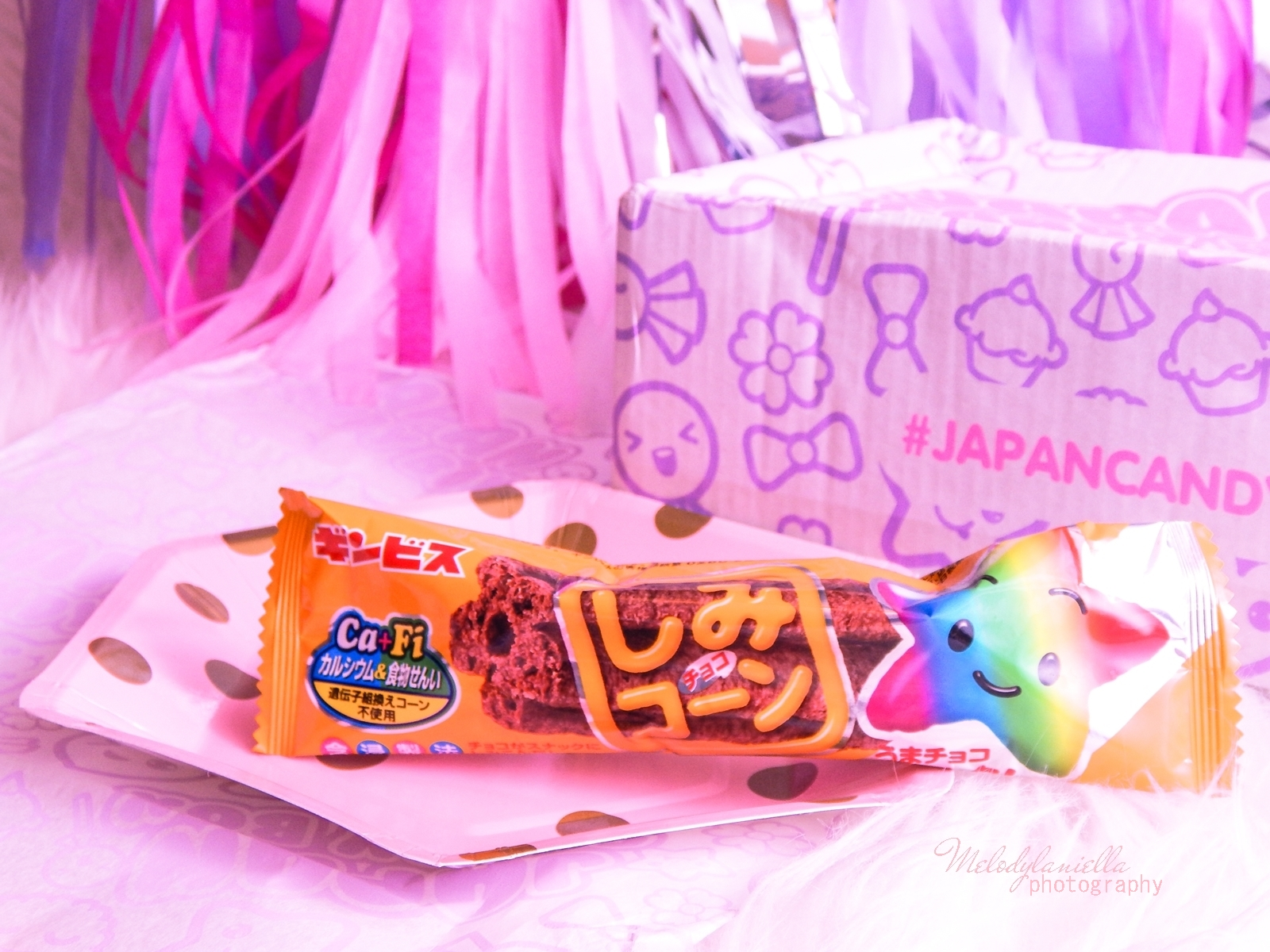 4 melodylaniella photography partybox japan candy box pudełko pełne słodkości z japonii azjatyckie słodycze ciekawe jedzenie z japonii cukierki z azji boxy z jedzeniem ginbis chocolate soaked corn stick