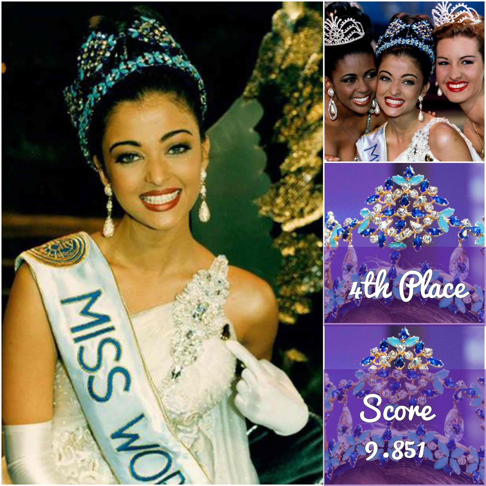 most beautiful miss world 1951-2016, 4th place and 3rd place
