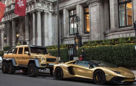 Tak Sanga Kereta Bersalut Emas Yang Viral Di London Ini Milik Pemuda Dari Malaysia