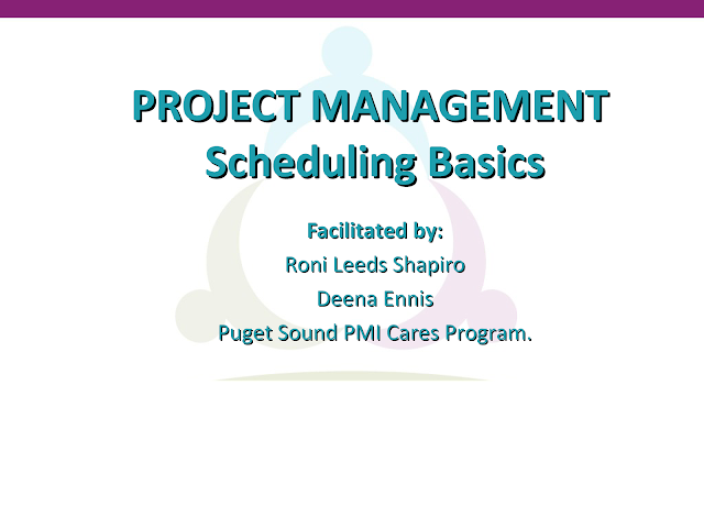 Project Management and Basics of Scheduling