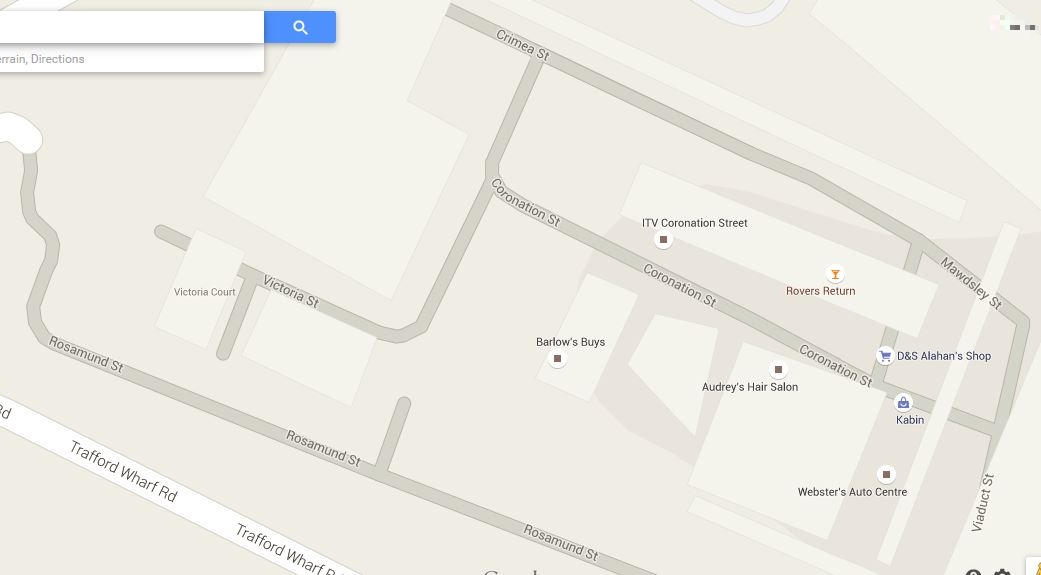 Coronation Street Blog: Coronation Street on Google Maps