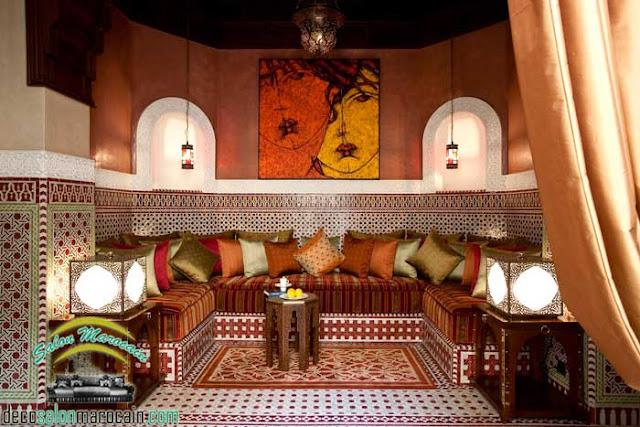 Antiquité pour un Salon marocain traditionnel 2017