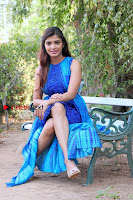 Tamil Actress Sanchita Shetty Latest Pos in Blue Dress at Yenda Thalaiyila Yenna Vekkala Audio Launch  0020.jpg