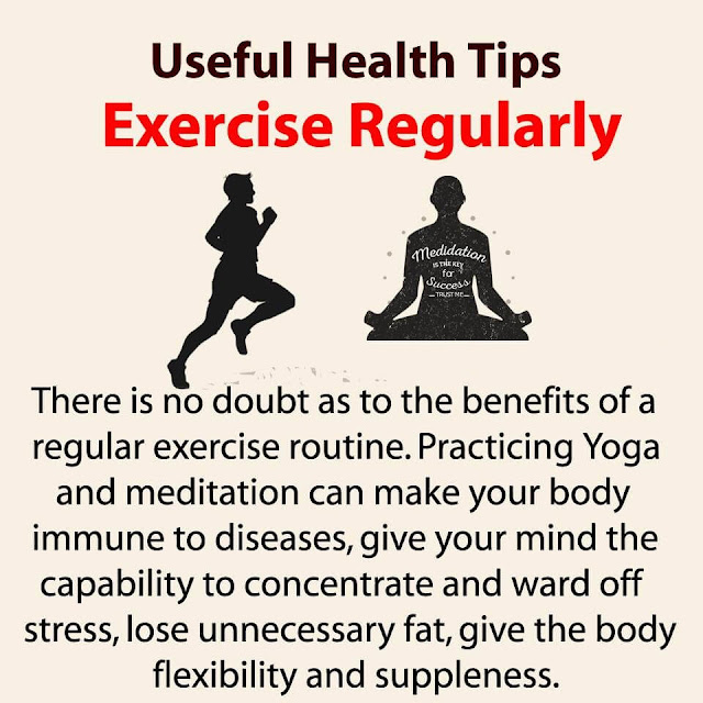 Health Tips - Exercise Regularly