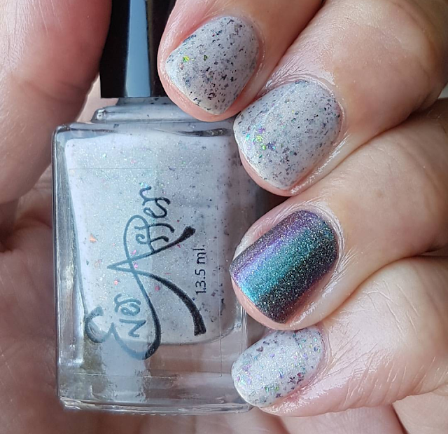 mother of dragons, polish, nails, pretty, flakies