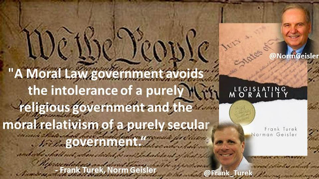 """A Moral Law government avoids the intolerance of a purely religious government and the moral relativism of a purely secular government."""