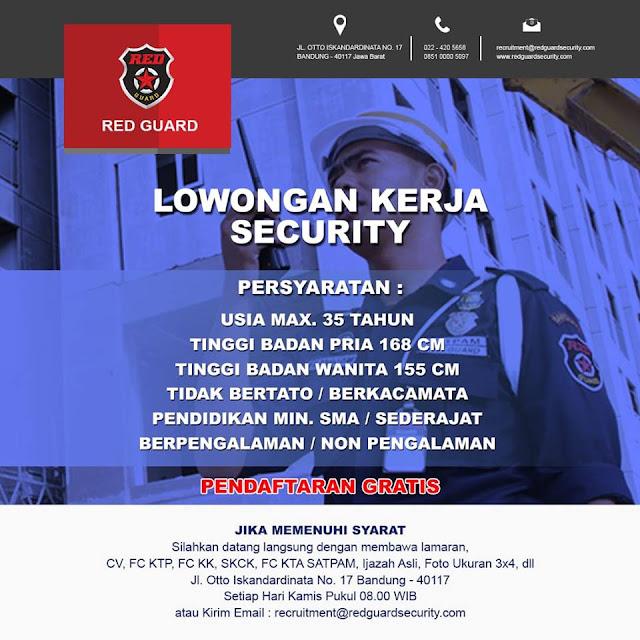 lowongan kerja security RED GUARD