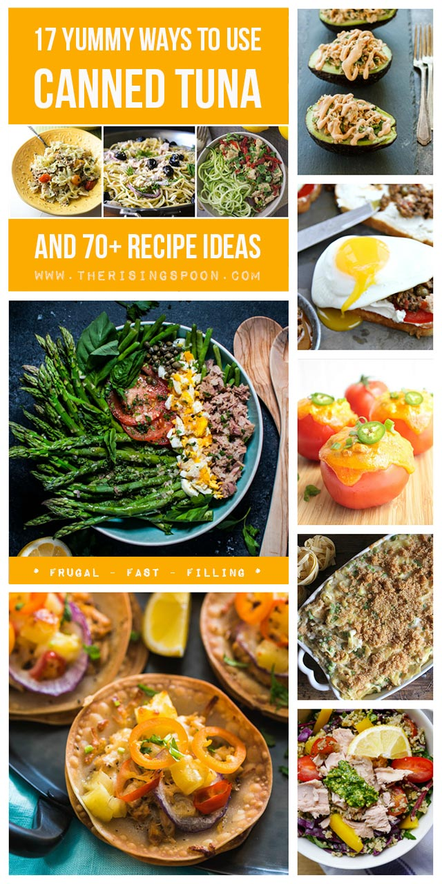 http://www.therisingspoon.com/2016/06/17-ideas-for-using-canned-tuna-and-70-recipes.html