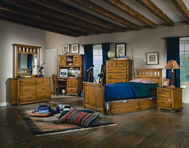 Dormitorio r stico para chico adolescente dormitorios for Dormitorio para 4 personas