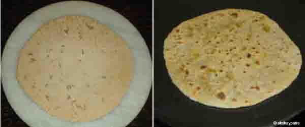 roll parathas and cook