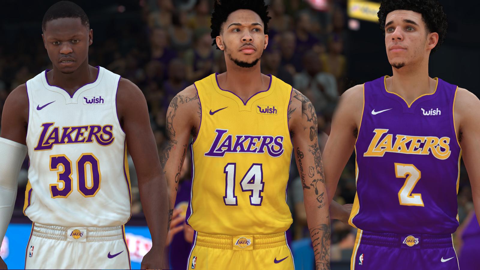 Nba Basketball Los Angeles Lakers: NBA 2K18 Los Angeles Lakers Jersey By Pinoy21