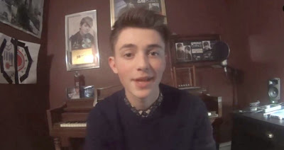 Greyson Chance in his home studio in Edmond Oklahoma - 2014