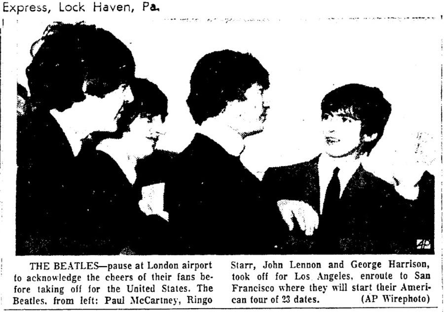 The Beatles In The News The Beatles The Lock Haven Express Pa August 19th 1964 Gästerna kan ta med sina husdjur, endast administrationen måste informeras i förväg. the beatles in the news blogger
