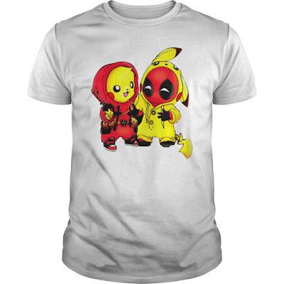Pikachu Deadpool T Shirts Hoodie Sweatshirt