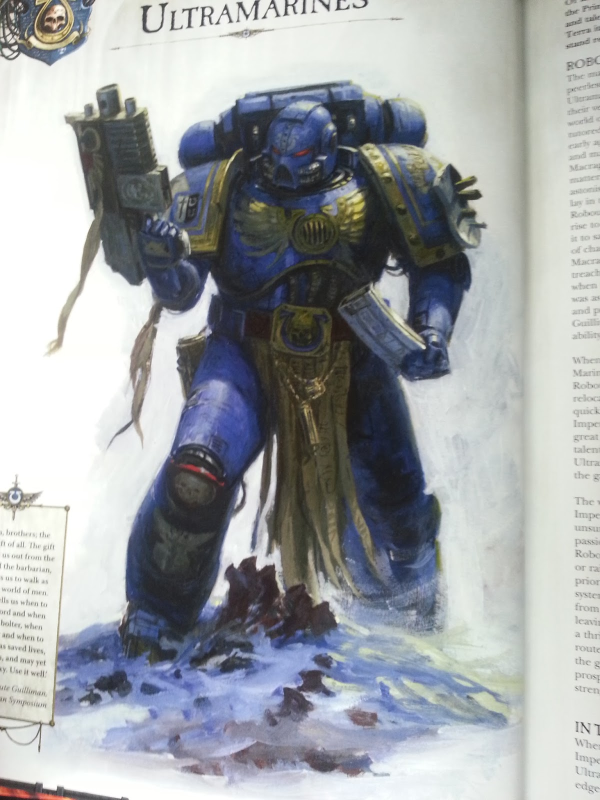Ultramarines Army Facing The Grey...