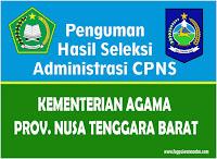 Hasil Seleksi Administrasi Kementerian Agama Wilayah NTB