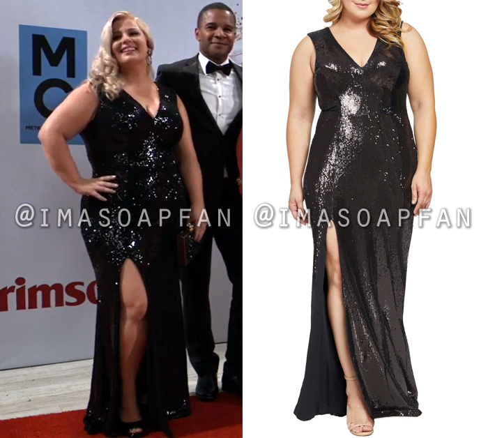 Amy Driscoll, Risa Dorken, Black Sequined Gown, Nurses Ball, General Hospital, GH
