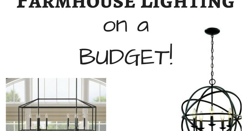 farmhouse lighting on a budget