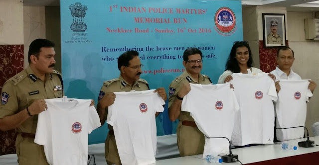 Unveiling of T Shirts, Medals and countdown for First Indian Police Martyrs' Memorial Run