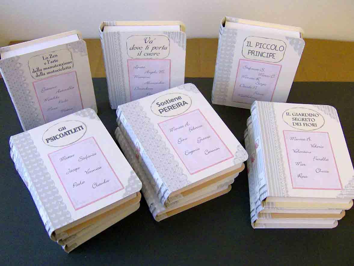 Favoloso Carta e Sassi: Tableau mariage: libri aperti e libri chiusi KW81