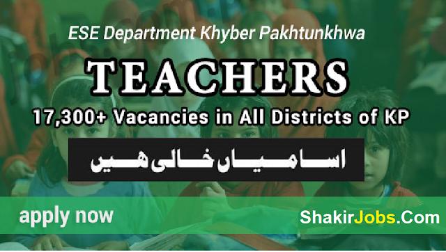 KPK Elementary and Secondary Education Jobs 2018-19 in KPK For Teaching