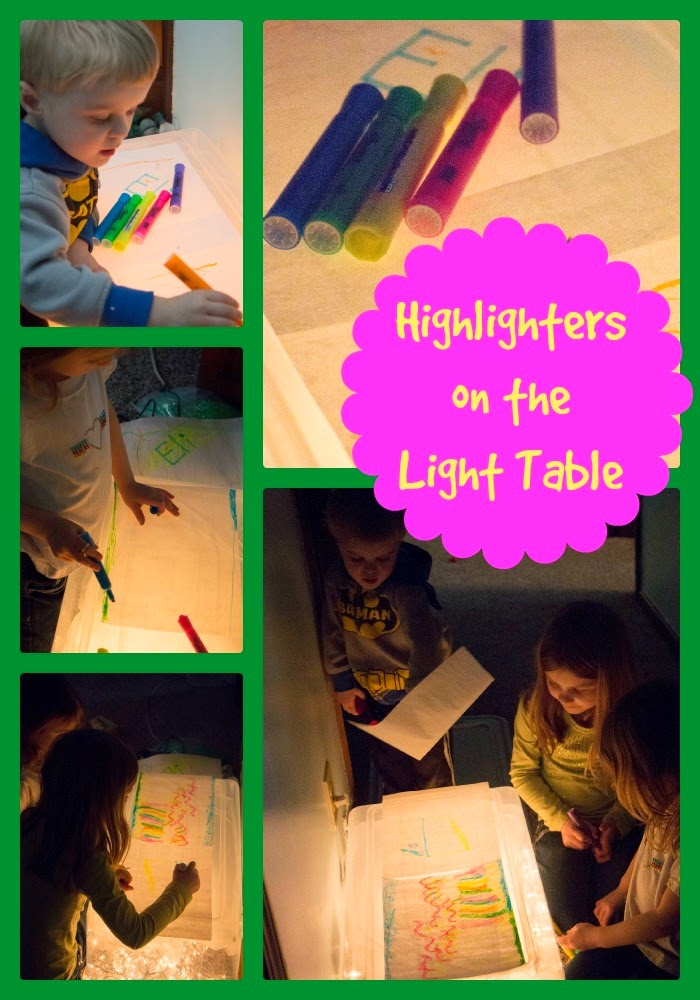 Highlighter Drawing on the Light Table