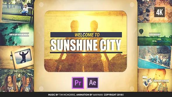 Videohive Vintage Slideshow Sunshine City 23068985