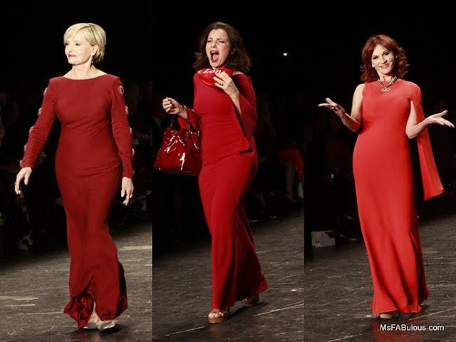 nanny fran drescher red dress