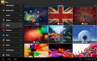 تحميل تطبيق HD Wallpaper  Pro نسخة مدفوعة يحتوى على اكثر من 10 الاف صورة Hd