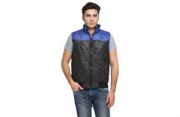 TSX Black & Blue Sleeveless Nylon Jackets For Rs 342 snapdeal