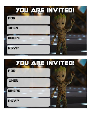 free guardians of the galaxy vol 2 birthday printables