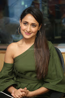 Pragya Jaiswal in a single Sleeves Off Shoulder Green Top Black Leggings promoting JJN Movie at Radio City 10.08.2017 009.JPG