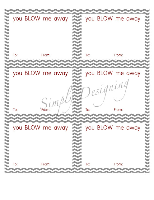 graphic regarding You Blow Me Away Valentine Printable identified as Oneself BLOW Me Absent Valentine Totally free Printable