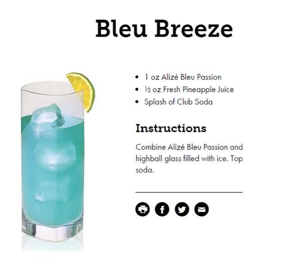 alize bleu breeze cocktail recipe