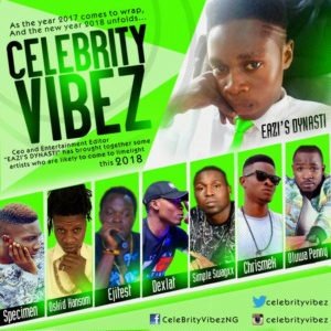 Check Out Some Celebrity(vibez's)  Artistes To Watch Out For In 2018!!! - 2018