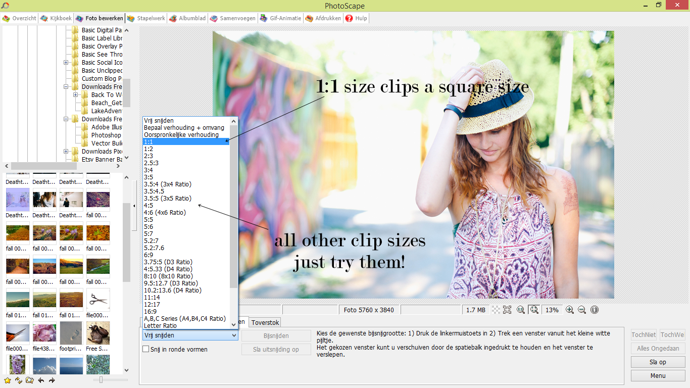 Clipping images with photoscape - tutorial | The Dutch Lady Designs