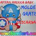 Moldes Gratis Capitán América Baby