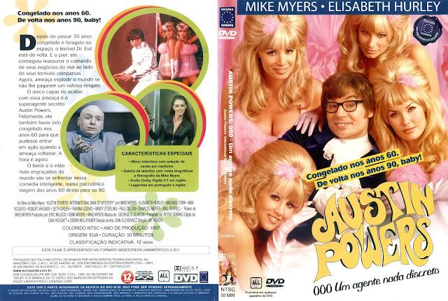 Capa DVD Austin Powers 000 Um Agente Nada Discreto