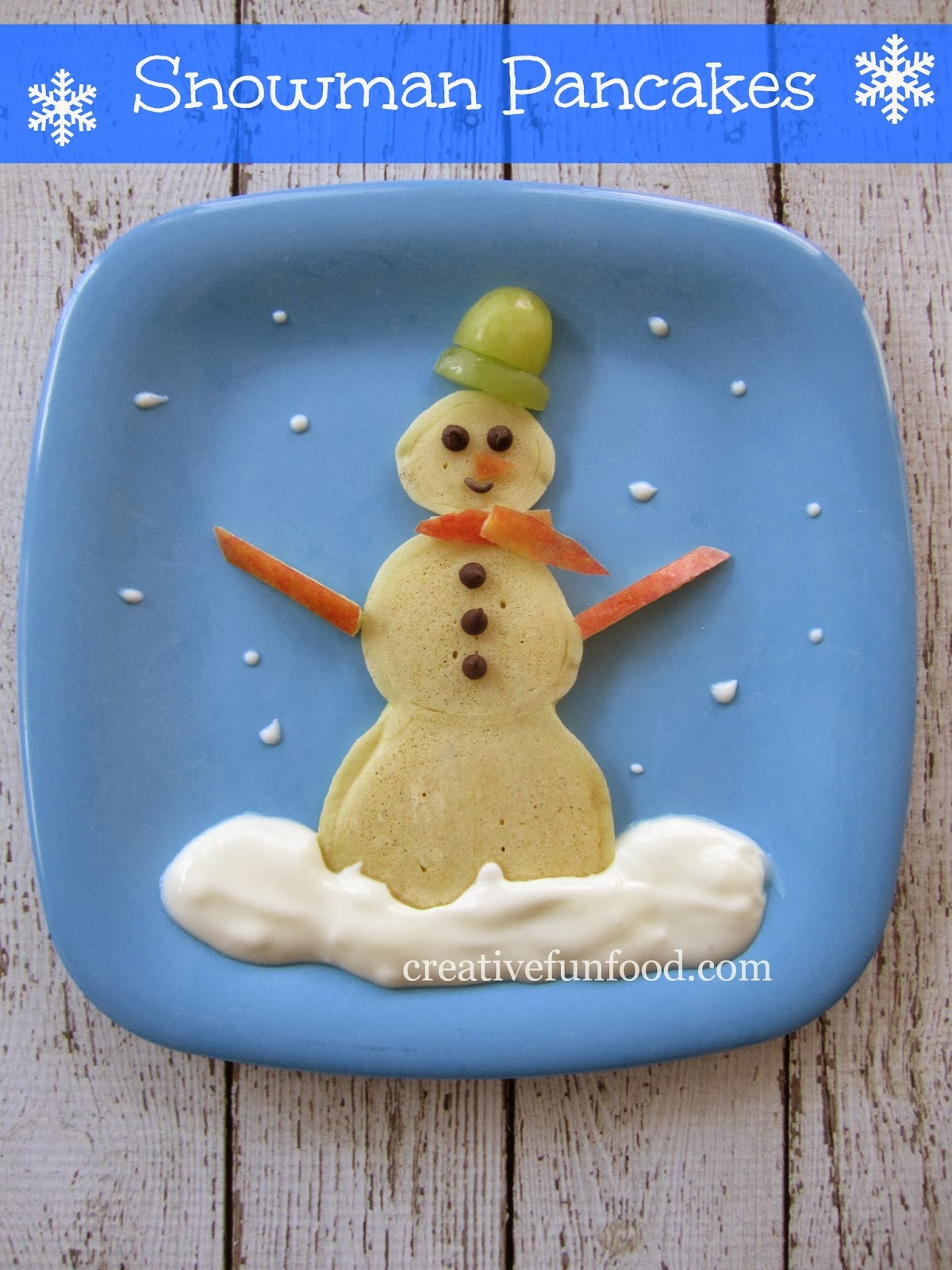 Creative Fun For All Ages With Easy Diy Wall Art Projects: Creative Food: Snowman Pancakes
