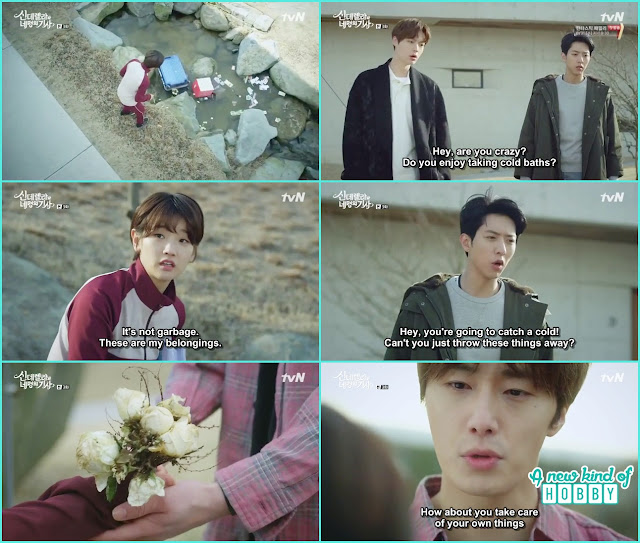 hyun min and seo won help ha won to capture her belongings - Cinderella and 4 Knights - Episode 3 Review