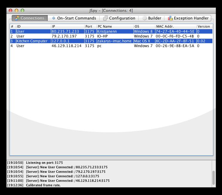 Free Hack Tools: [Jspy RAT v0 08] Java Multiplatform Remote