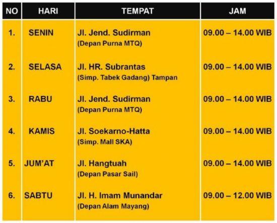 Jadwal Layanan SIM Keliling di Pekanbaru