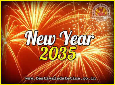 2035 New Year Date & Time, 2035 New Year Calendar